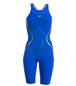Speedo Women's LZR Racer X Open Back Kneeskin BLUE!