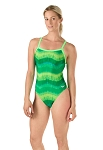 SPEEDO Pro LT Bye Tie Dye Flyback One Piece Swimsuit