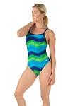 SPEEDO Pro LT Bye Tie Dye Flyback One Piece Swimsuit - Adult