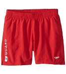 Speedo 16 inch Red Volley Guard Trunk