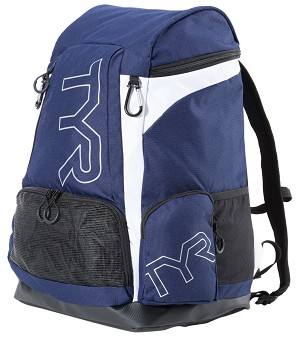 TYR Alliance 45L Backpack - Navy/White NO LOGO