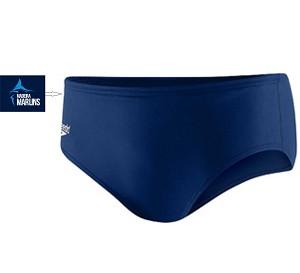 Speedo Endurance Brief- Navy w/ Team Logo